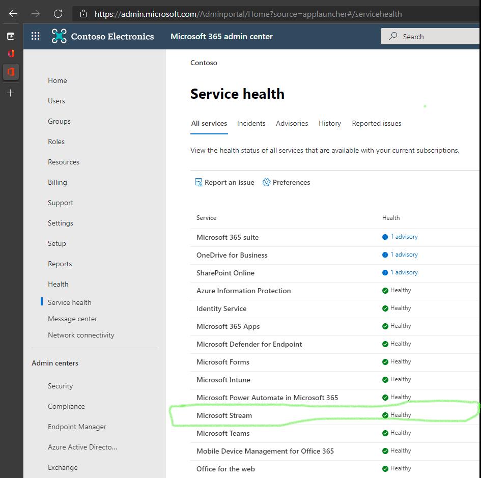 Microsoft-Stream-service-health.png