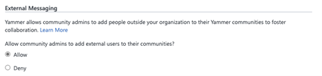 thumbnail image 2 of blog post titled Guest Access in Yammer is now Generally Available