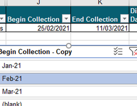 When I filter with Splicer, single dates appear, not all of that month.