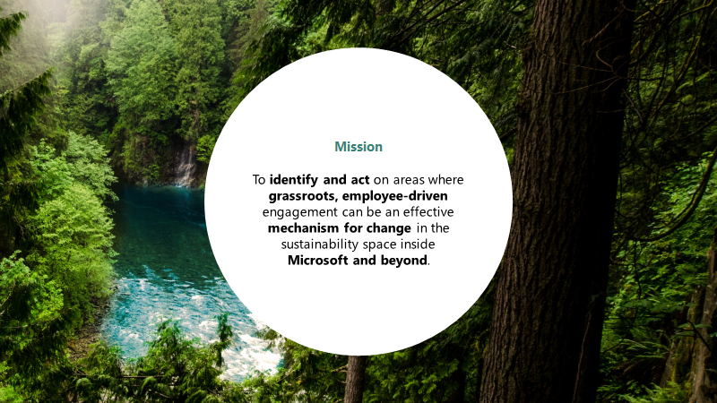 Microsoft Sustainability Mission Statement
