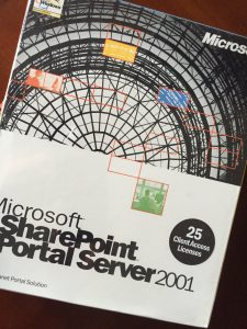 Microsoft SharePoint Portal Server 2001 box cover.