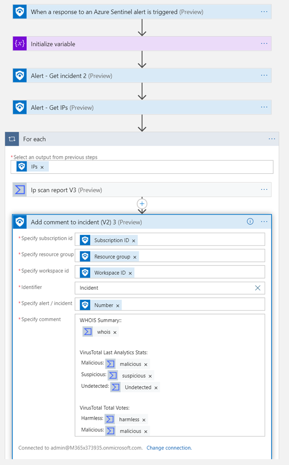thumbnail image 12 of blog post titled              How to use Azure Sentinel for Incident Response, Orchestration and Automation