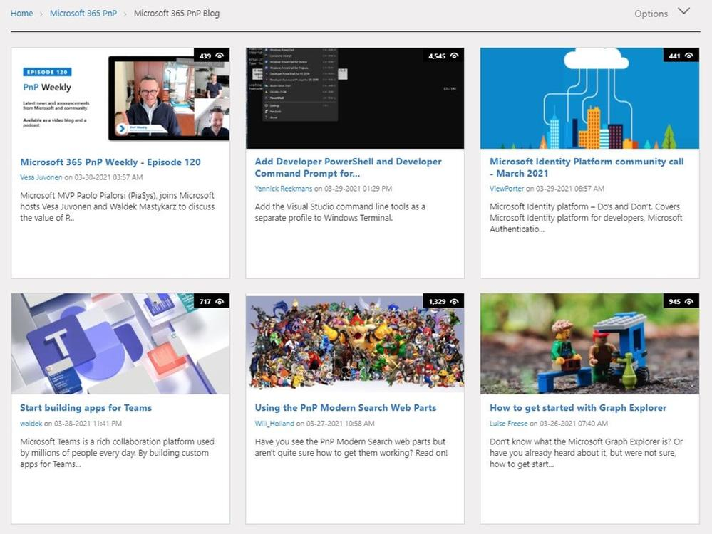 Sample content published within the new Microsoft 365 PnP forum space in the Microsoft Tech Community.