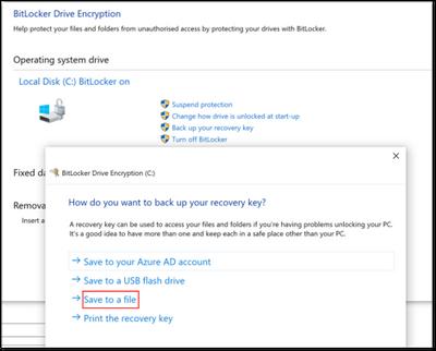BitLocker Drive Encryption window