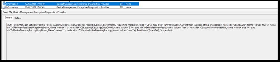 DeviceManagement-Enterprise-Diagnostic-Provider event log