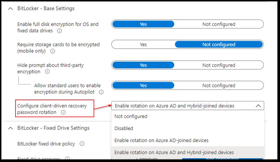 Client-driven password rotation options