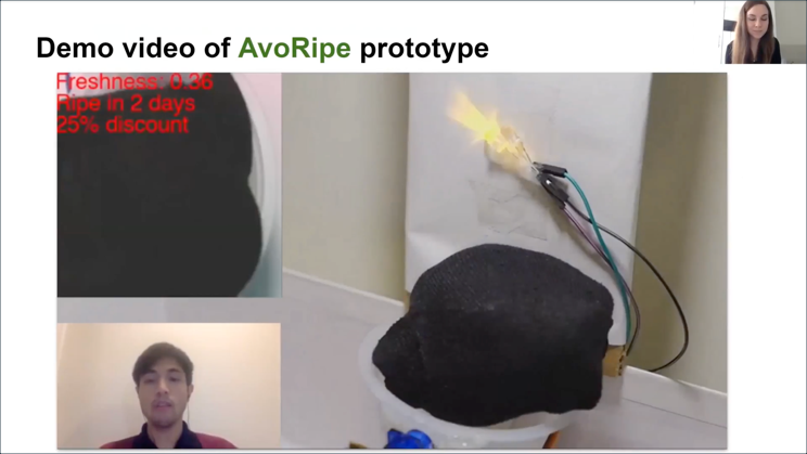 PicturePerfect Fruit with an IoT device giving a visual indicator of avocado ripeness