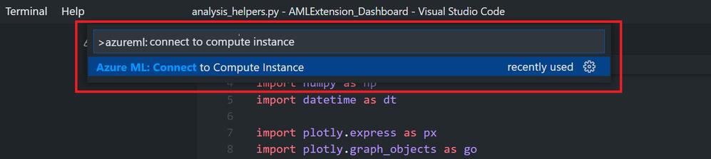 Azure ML extension command