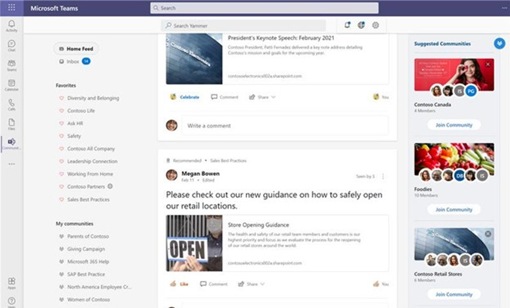Now Available: Yammer Suggested Communities