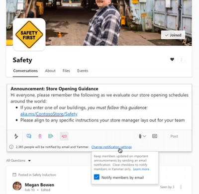 Now Available: Yammer Essential Announcements