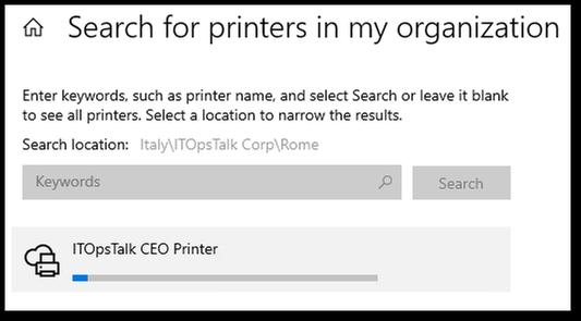 Installing the printer progress.