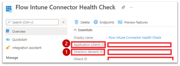 Overview of the Flow Intune Connector Health Check.