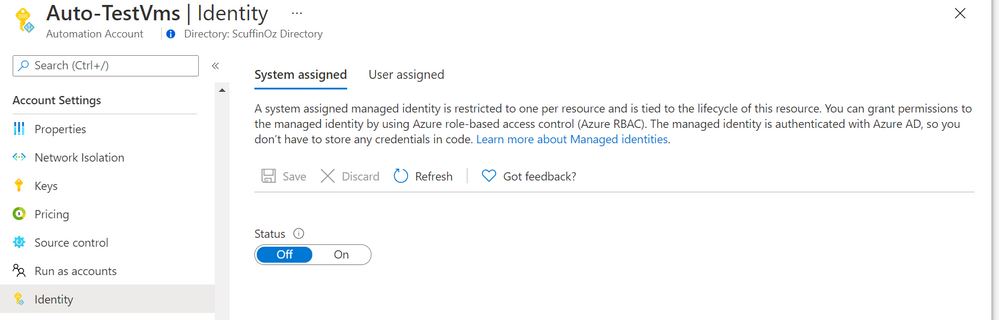 Using Managed Identities in Azure Automation Accounts (preview)