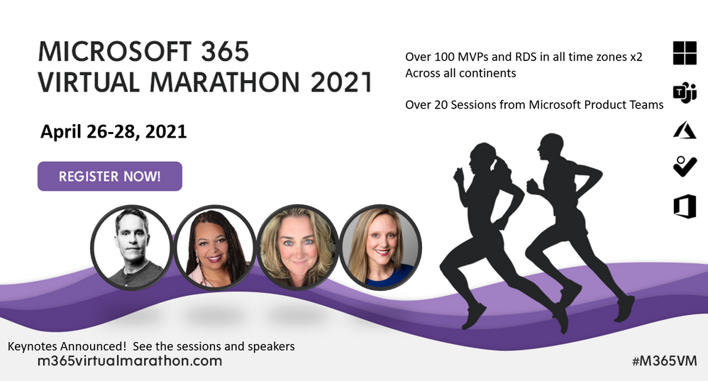 Microsoft 365 Virtual Marathon 2021 – free, online training event