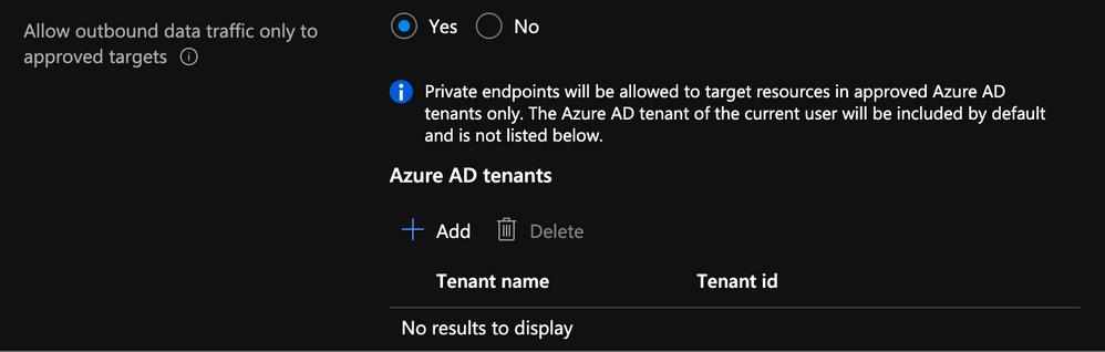 Specify AD Tenant