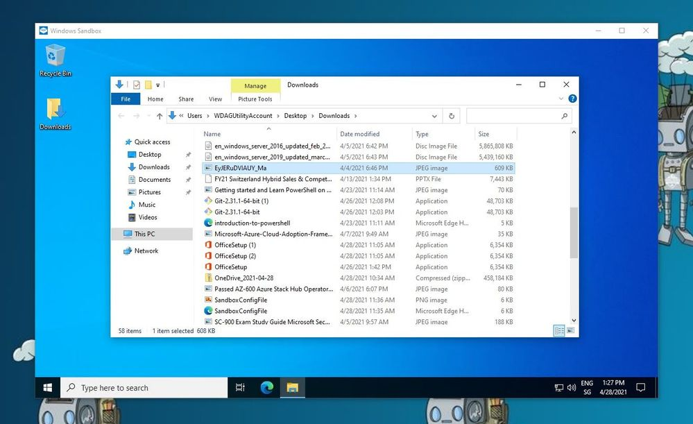 Windows Sandbox Mounted Folder
