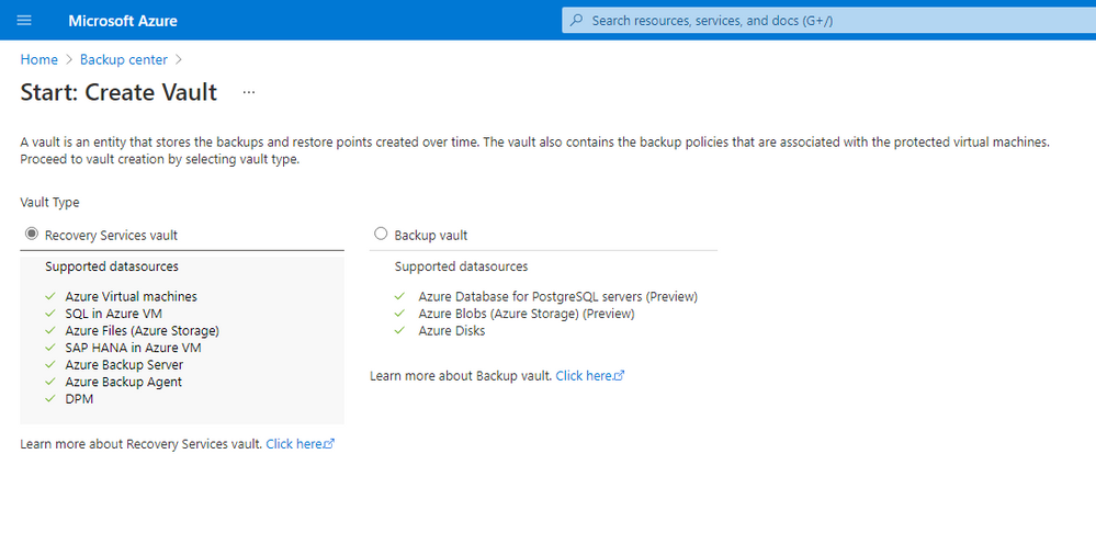 Azure Backup Center: Monitor and operate