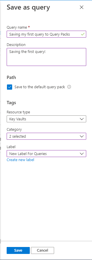 Save a query to query pack save screen.png