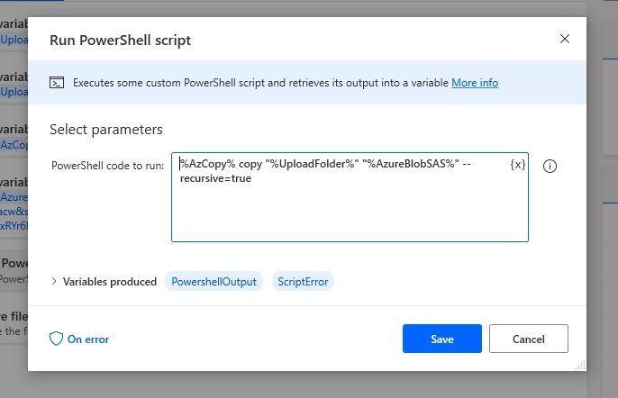 Run PowerShell script