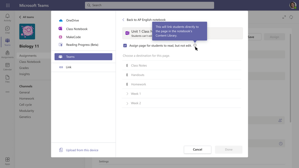 Share a OneNote Class Notebook page as read-only.png