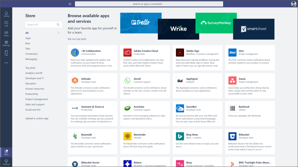 Discover apps and integrations in the new Store.