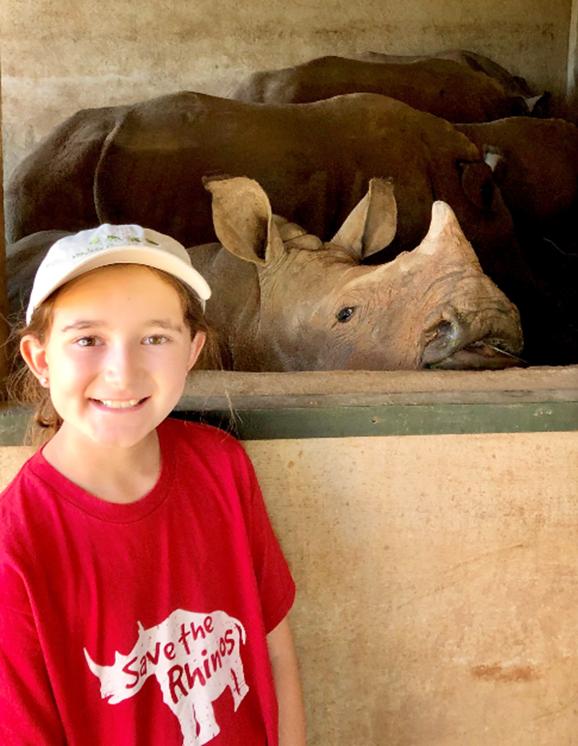 Kate Gilman Williams at the Care For Wild Rhino Sanctuary
