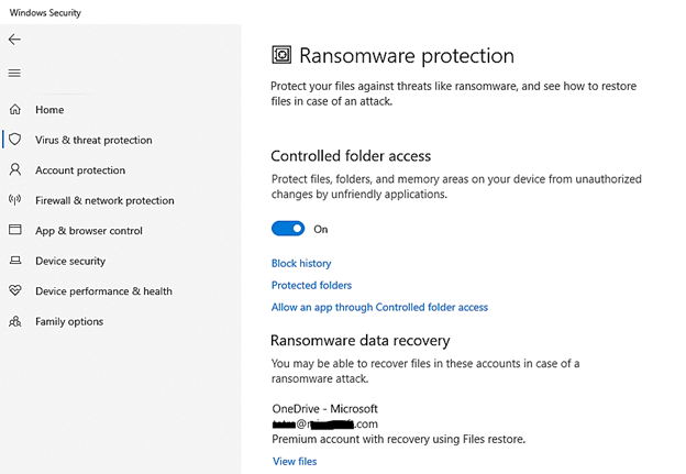 thumbnail image 2 of blog post titled              WINDOWS DEFENDER CONTROLLED FOLDER ACCESS EVENTS