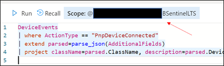 Retrieve the ADX scope for external use from Azure Sentinel.