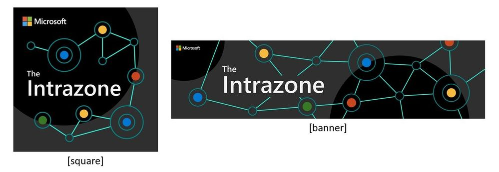The Intrazone introduces a new logo, showing how it appears in a square format (left) and a rectangle format (right).
