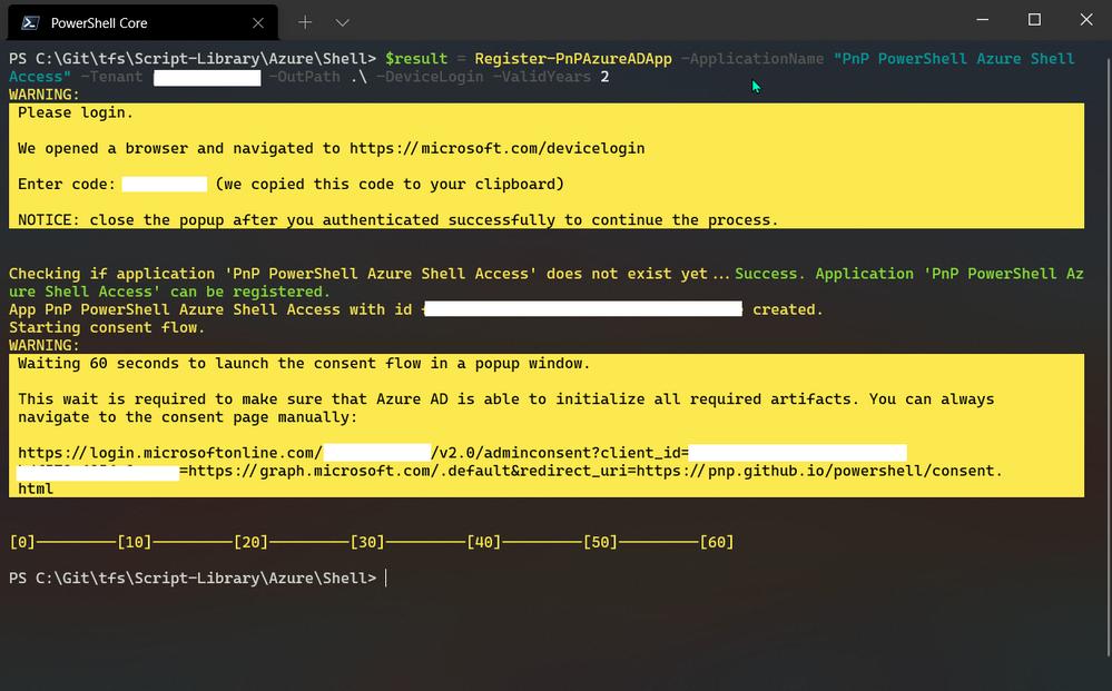 PowerShell - Registering Azure App
