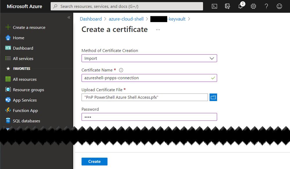 Azure Key Vault - Upload Certificate