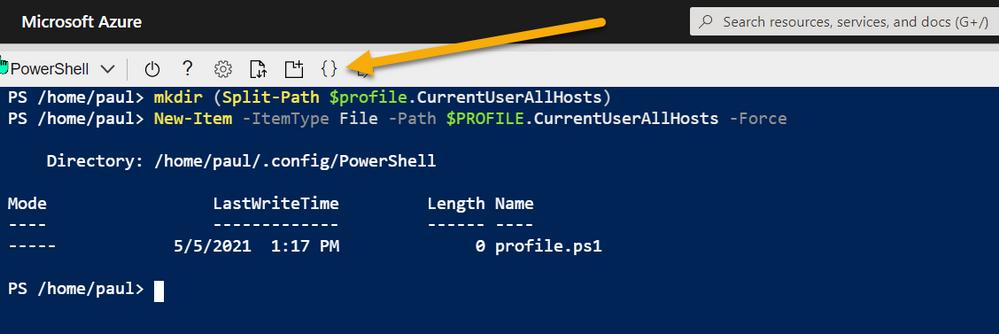 Azure Shell - Setup Profiles