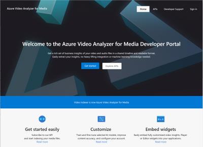New AVAM developer portal home page