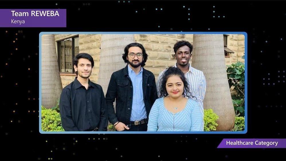 From left to right, team members DharmikKarania, Jeet Gohil, Khushi Gupta, and Abdihamid Ali
