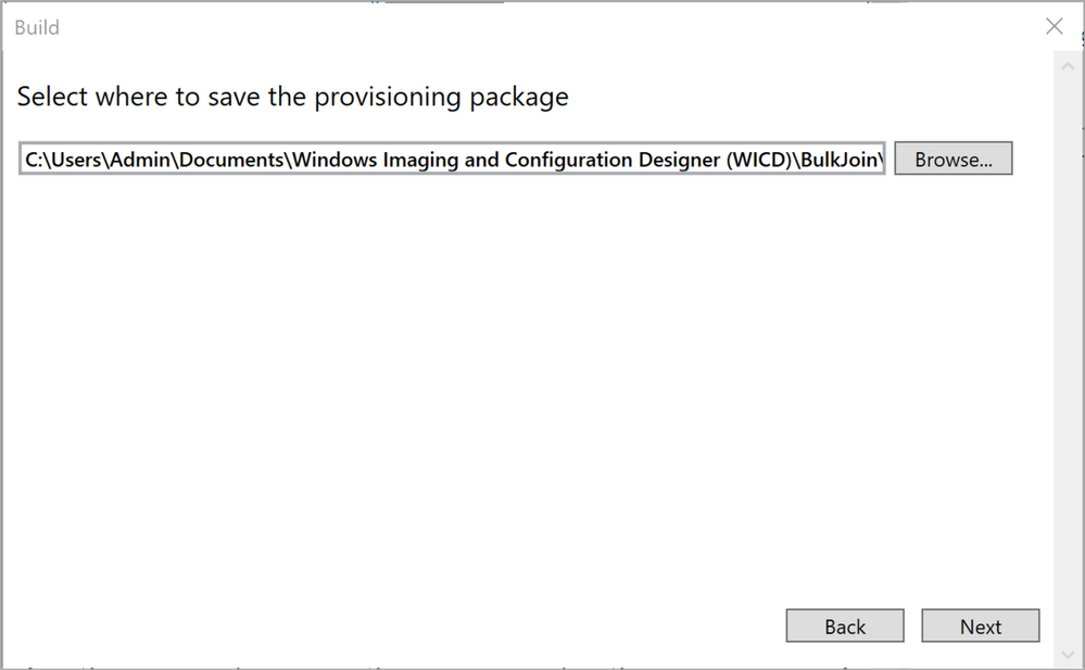 Figure 20: Select where to save the provisioning package