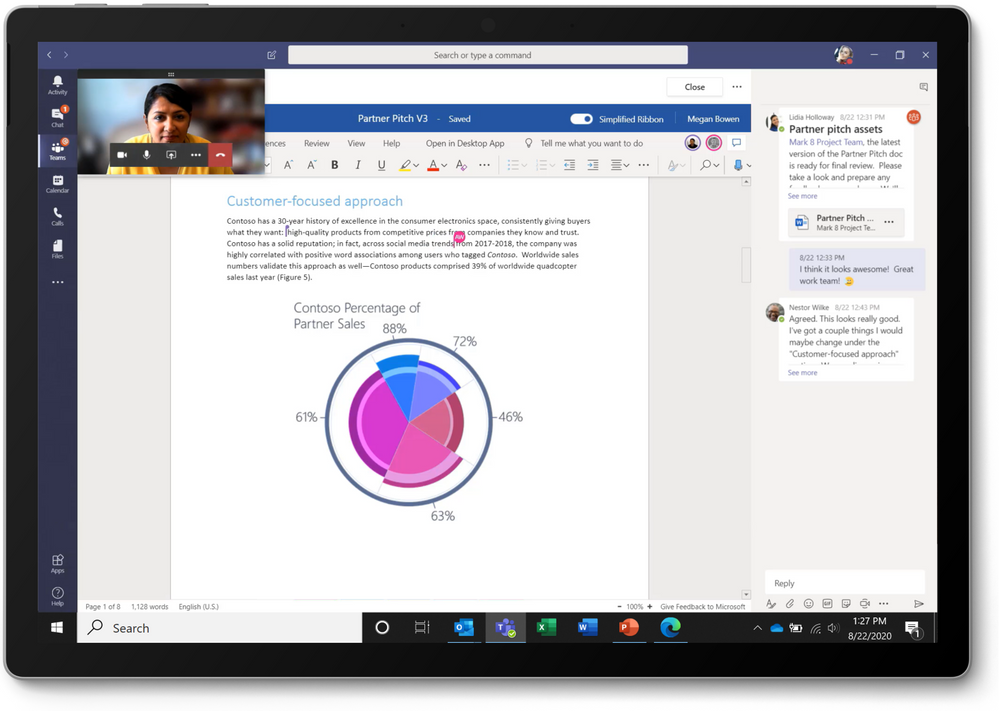 thumbnail image 5 captioned Coauthoring a Microsoft Word document in Microsoft Teams