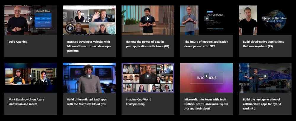 Highlights of Build 2021 on-demand sessions.