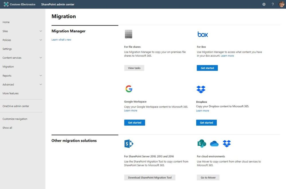 Thumbnail image 1 captioned connect your box, dropbox, or google workspace account to microsoft 365 to move files and folder into onedrive, sharepoint, and microsoft teams.