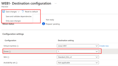 thumbnail image 4 of blog post titled How to move your resources across regions and into Availability Zones using Azure Resource Mover