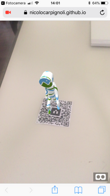 using a printed QR code as a fiducial marker in web AR