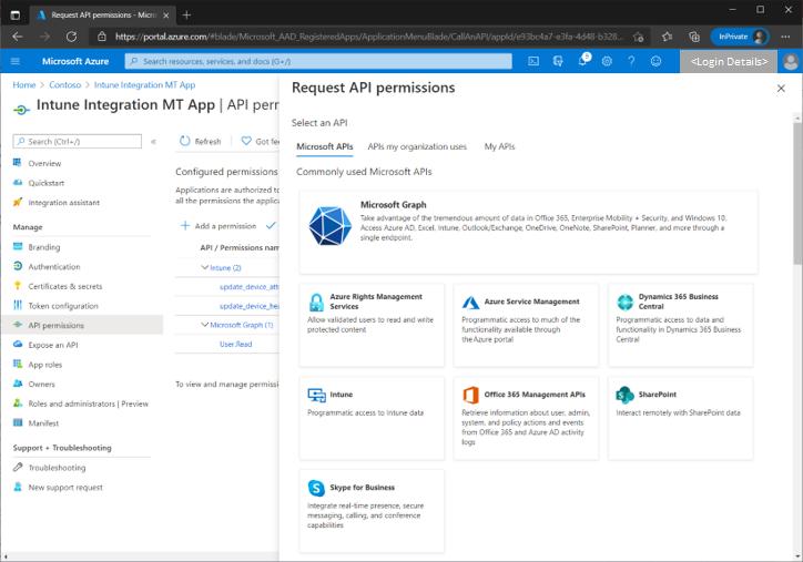 Figure 5 - Request API permission flow on adding a new permission.