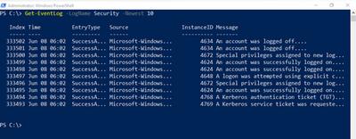 PowerShell basics: Query Windows Server Event Logs