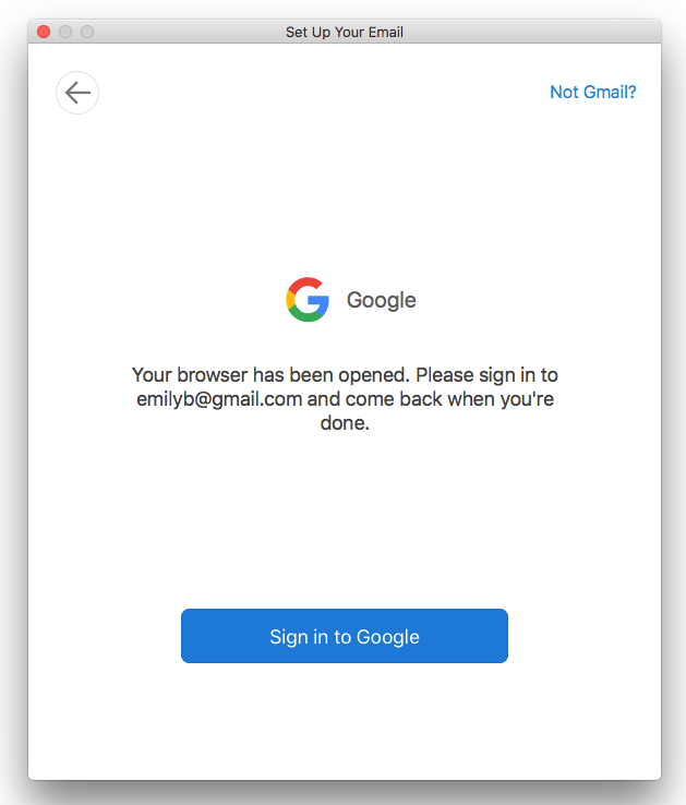 Sign in to Google via browser