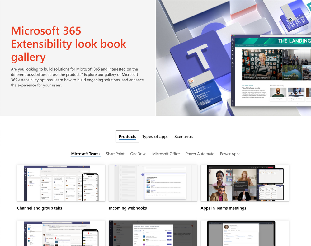 Microsoft 365 Extensibility look book