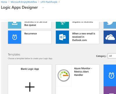 Logic Apps Designer has a built-in template for Azure Monitor Metrics alerts