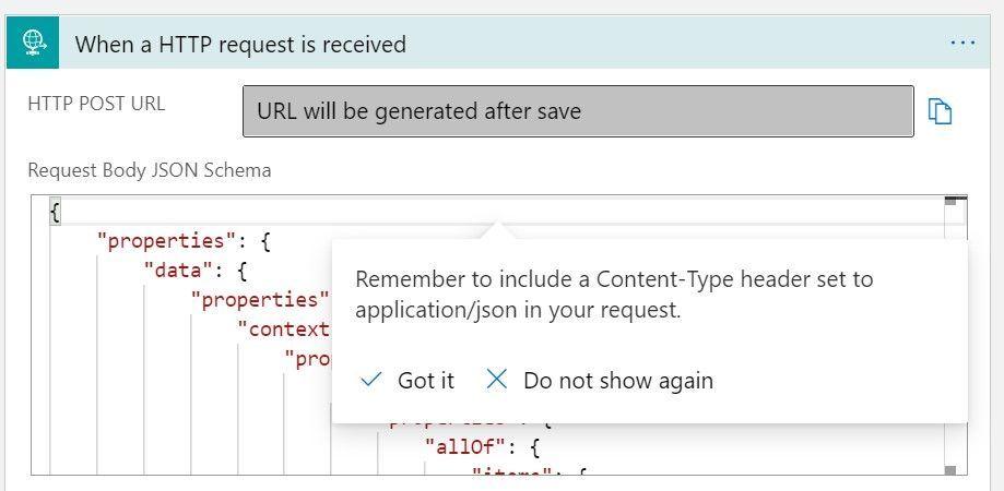 JSON sample for the Azure Monitor Metrics Alert