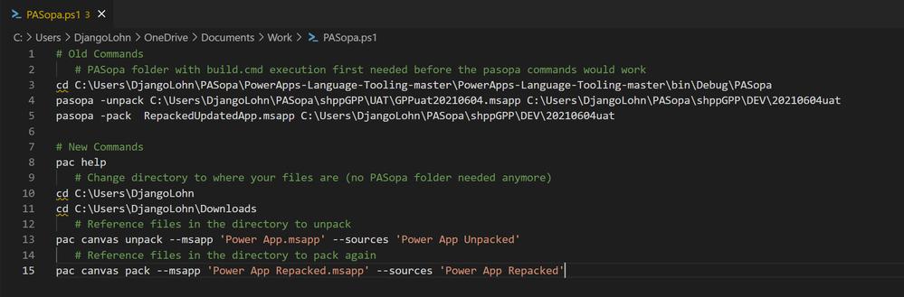 PowerApps_VisualStudio_PowerPlatform_Extension_msapp_compare