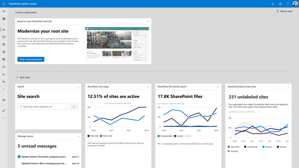 New homepage with actionable insights