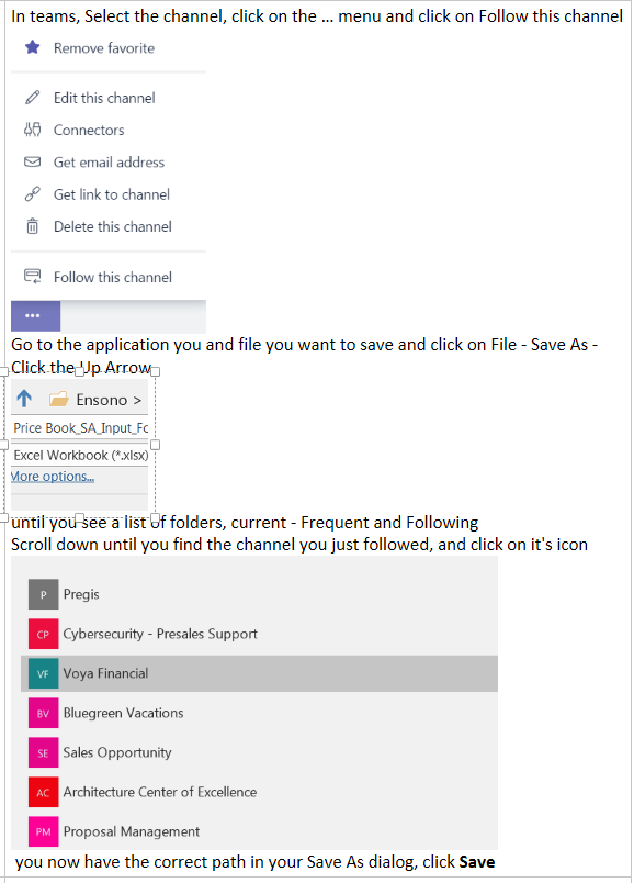 Save to Teams Folder