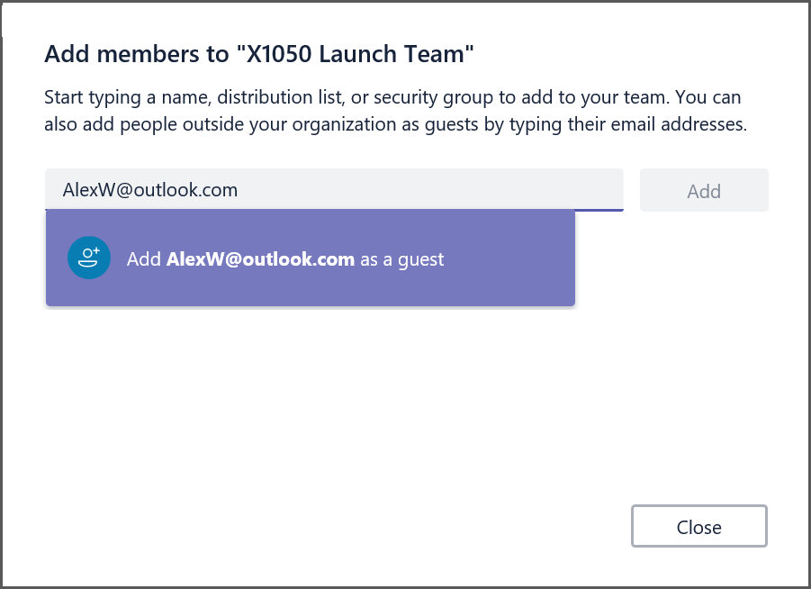 You can now add anybody with a consumer account as a guest in Teams